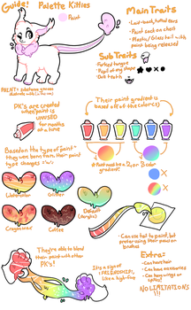 SEMI-OPEN SPECIES - Palette Kitties Guide by kitteors