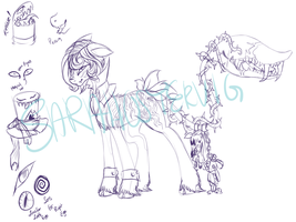 Wonderland plant pony auction WIP by Sarahostervig