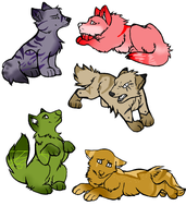 wolf pup adopts by Icey-adopts