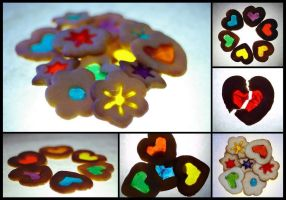 stained glass cookies by ruda-kun