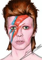 Aladdin Sane Portrait by Rogue-Spectrum