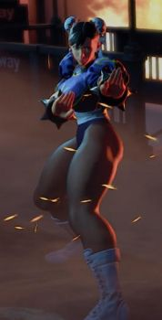 SFV WIP - Chun Li Skirtless by Segadordelinks