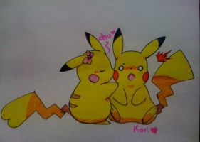 pika-kiss by KoriArredondo