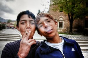 Young smokers by Chris-Lamprianidis