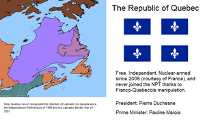 Republic of Quebec since 1995 by kyuzoaoi
