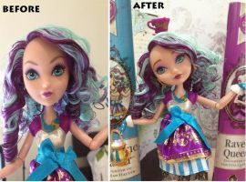 Ever After High Madeline Hatter Doll Repaint by RCOCO-DOLLS