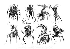 Necromorph Thumbnails 03 by LordNetsua