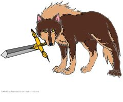 wolf with sword by killclancamp