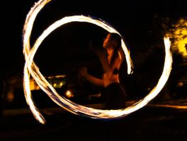 Parking Lot Fire Dancer by Andashd