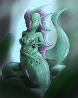 30 Day Monster Girl Challenge Day 4: Naga by DefiantCoin64