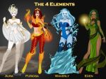 The 4 Elements by LadyRaw90