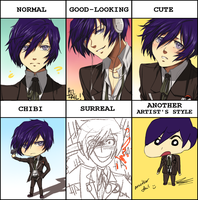 Style meme from pixiv by Hatoko-sama