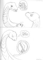 Poor Snakes by Dani-Claw