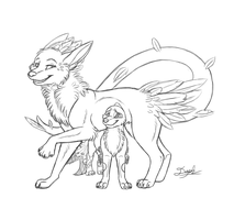 Pals for Life - Sketch Commission by Daphianna