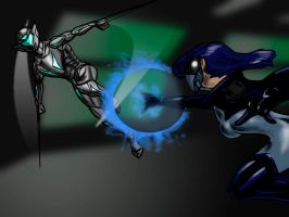 Cathryn v Wind Claw by PearceComics