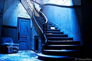 The blue stairs by DeviantMotiv