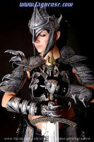 female leather armor by Lagueuse