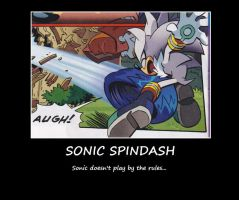 Demotivational: Sonic Spindash by ScourgeTheHedgehog20