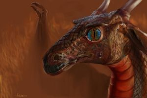 Dragon portrait I by Hagge