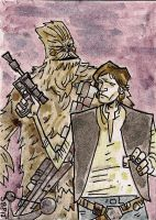 Han Solo and Chewbacca by SpencerPlatt
