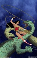 Wonder Woman 179 vol.2  Cover Recreation - commis by mhunt