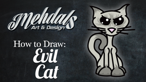 How to Draw an Evil Cat by Mehdals