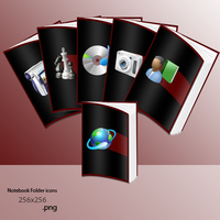 Notebook Folder Icons by Gixso
