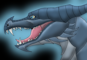 The great blue dragon by Danny-Senpai