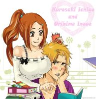 Ichigo and Orihime by Dgesika