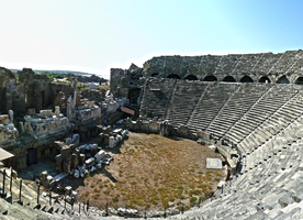 Ancient theater, Side, Turkey by Haban