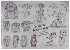 Toonville Inhabitans Part I by RedLittleHouse