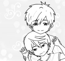 MakoHaru~ Sketch by ADFlowright