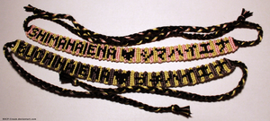 japanese Hyenas - Bracelets by RHCP-Cream