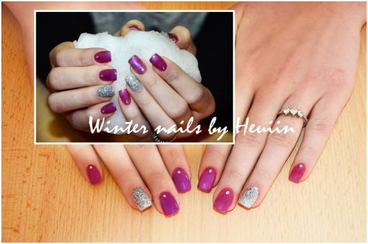 Winter nails by Heuiin
