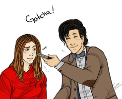 Eleven and Amy Pond by gryphonslade