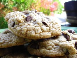 Delectably Delicious Chocolate Chip Cookies by VioletRosePetals