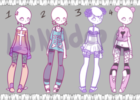 Auction Adopt: Pastel outfits OPEN 4/4 by Lunadopt