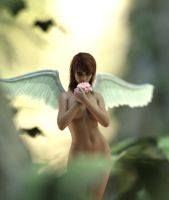 Rebeca Angel in the forest by BestmanPi