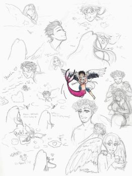 YOI: Where the Sky meets the Sea sketches by Kiyomi-chan16