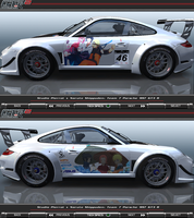 Naruto Team 7 Porsche 997 GT3 R Itasha by FAT8893