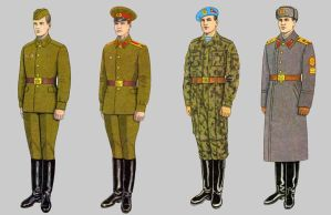 Soviet Army Uniforms 48 by Peterhoff3