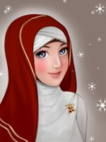 Collab - Red Hijab by ainosora