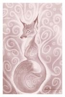 penciled fox by f0xyme