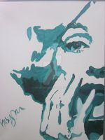 Marilyn in Teal by 3rdwoman