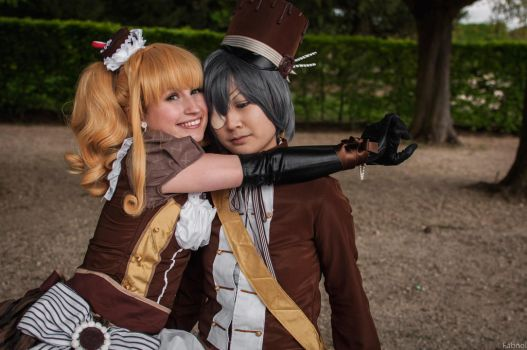 Lizzy and Ciel Chocolate by Sakurikacosplay
