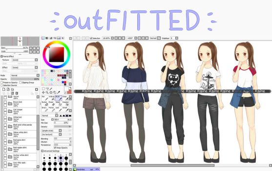 outFITTED [COMMISSIONS OPEN] + RAFFLE by rainbownote