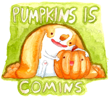 We Wait for Pumpkins by cottoncritter