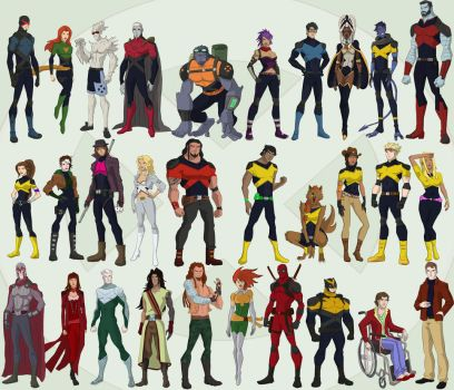 Xmen and Co by cspencey