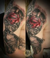 glibber ugly puppet blood face by 2Face-Tattoo