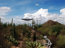 UFO en Phoenix Arizona by Juantelos